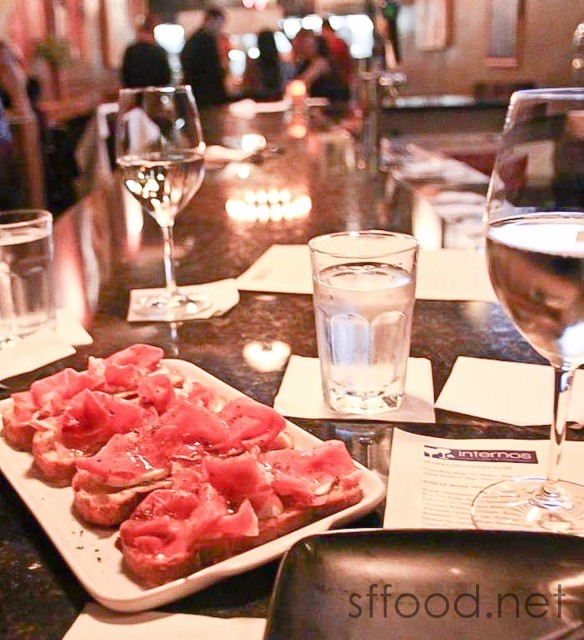 Internos Wine Bar | San Francisco Food Restaurant Review