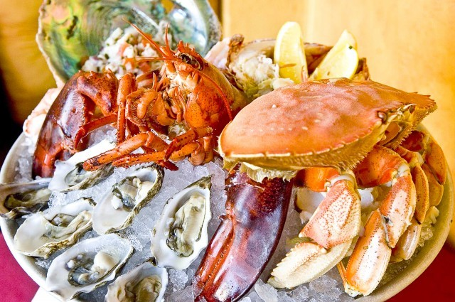 Gorgeous seafood at Meritage Martini Oyster Bar and Grill -- photo credit: Urbanspoon