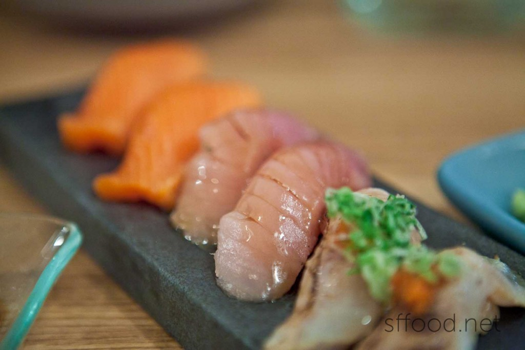 Shiro Maguro - White Tuna Nigiri ($6.00)