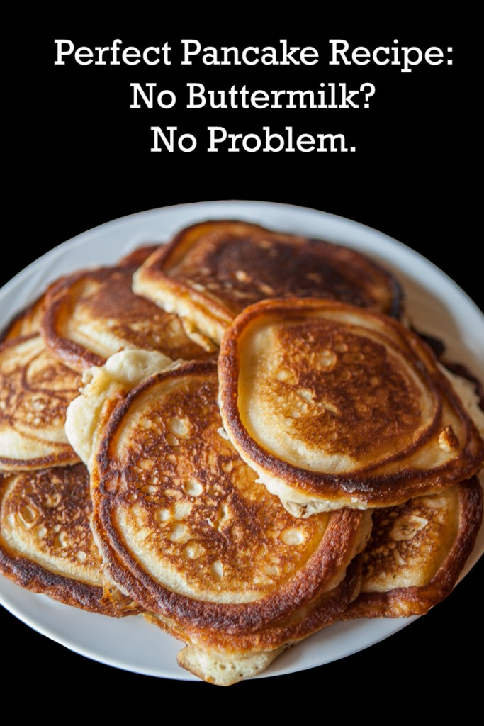 best pancake recipe without buttermilk or milk